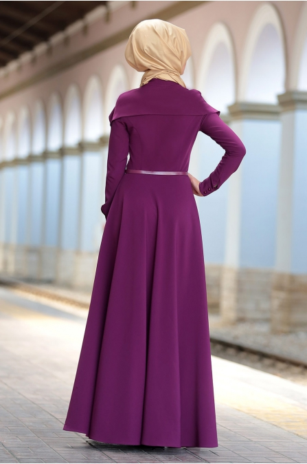 Al - Marah - Tuana Elbise - Mürdüm