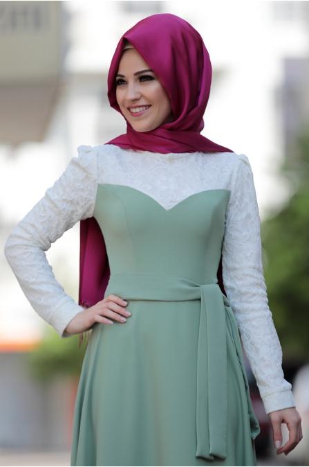 Al - Marah - Yağmur Elbise - Çağla Yeşili