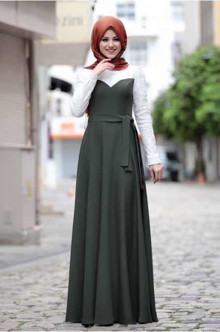 Al - Marah - Yağmur Elbise - Haki