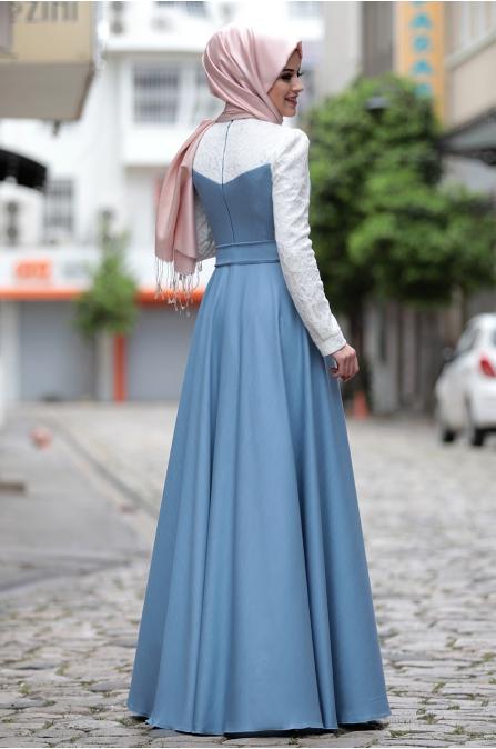 Al - Marah - Yağmur Elbise - Mavi