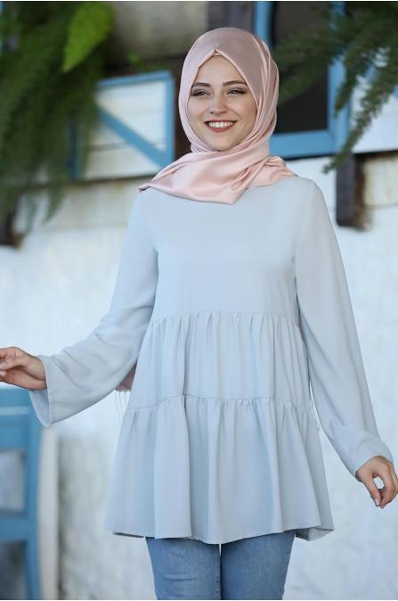 Leyla Tunik - Gri - Al Marah
