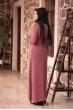 Bahar Tesettür Abiye Elbise - Gül Kurusu - Amine Hüma