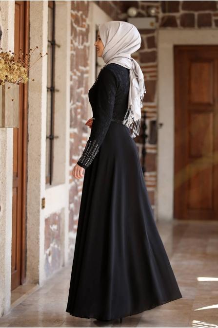 Berin Abiye - Siyah - Amine Hüma