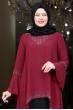 Eslem Abiye Elbise Bordo Siyah
