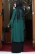 Eslem Abiye Elbise Zümrüt Siyah