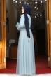 Gonca Tül Kaplama Tesettür Abiye - Bebe Mavisi