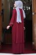 Gül Tesettür Abiye Elbise - Bordo - Amine Hüma