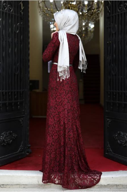 Hayal Abiye  - Bordo - Amine Hüma