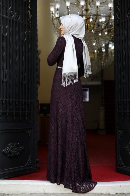 Hayal Abiye  - Mor - Amine Hüma