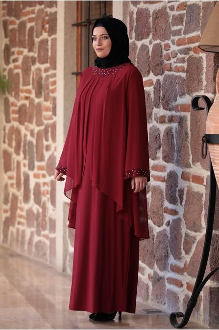 Asya Elbise - Bordo - Amine Hüma