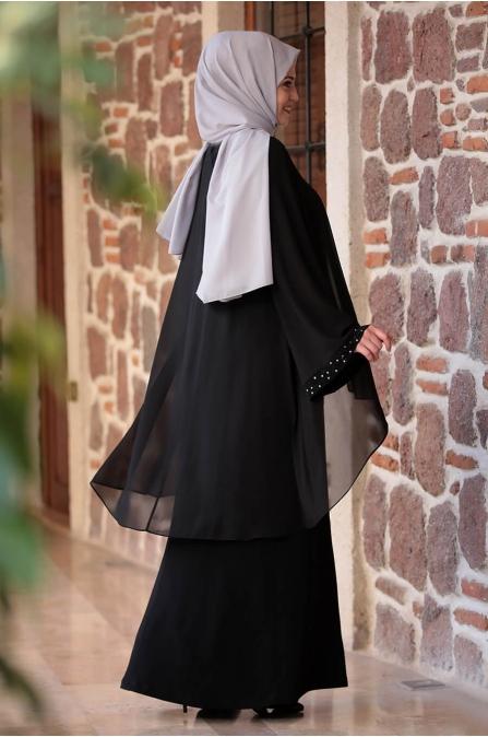 Asya Elbise - Siyah - Amine Hüma