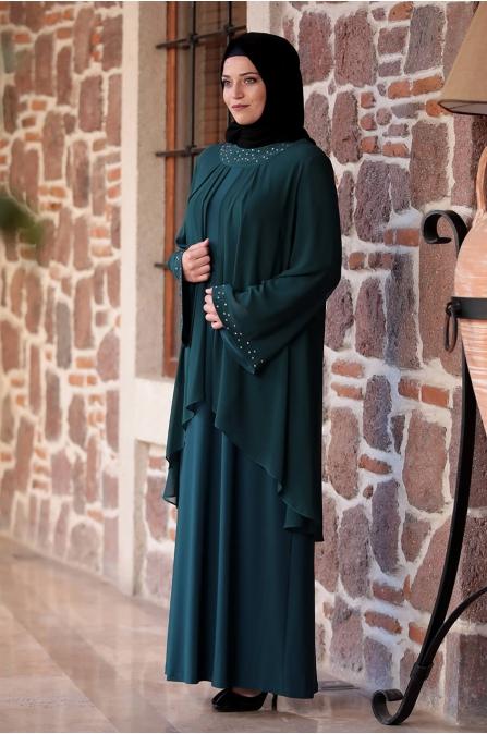 Asya Elbise - Yeşil - Amine Hüma