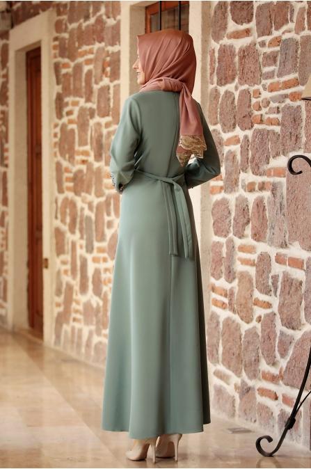 Dilara  Elbise Çağla Yeşili - Amine Hüma