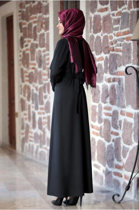 Dilara  Elbise Siyah - Amine Hüma