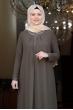 Esma Büyük Beden Tesettür Elbise - Haki