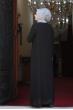 Esma Büyük Beden Tesettür Elbise - Siyah