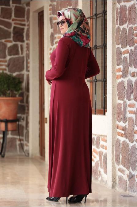 Hatun Elbise - Bordo - Amine Hüma