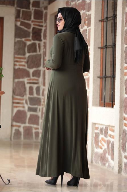Hatun Elbise - Haki - Amine Hüma
