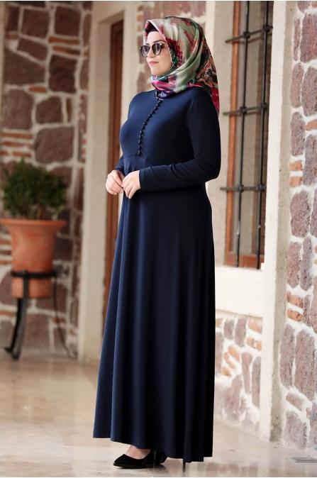 Hatun Elbise - Lacivert - Amine Hüma