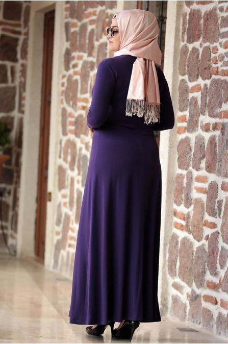 Hatun Elbise - Mor - Amine Hüma