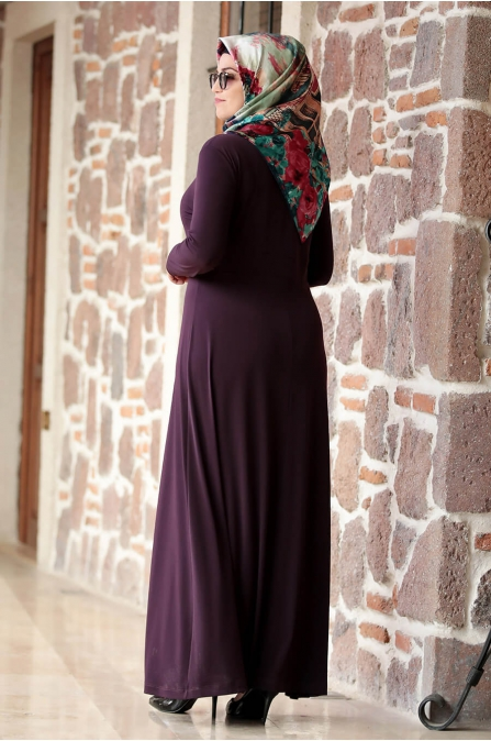 Hatun Elbise - Mürdüm - Amine Hüma