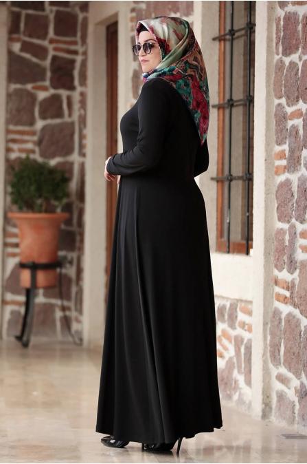 Hatun Elbise - Siyah - Amine Hüma