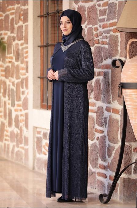 Hürrem Elbise - Lacivert - Amine Hüma
