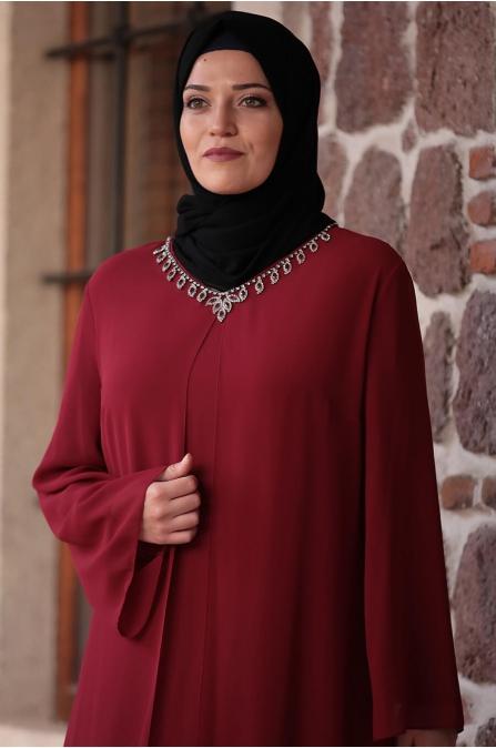 Mihribah Elbise - Bordo - Amine Hüma