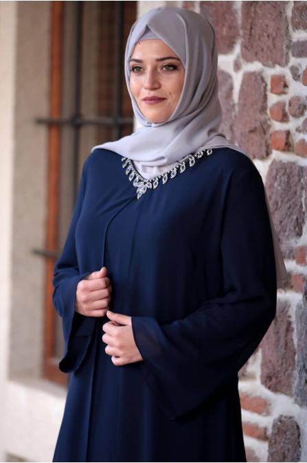 Mihribah Elbise - Lacivert - Amine Hüma