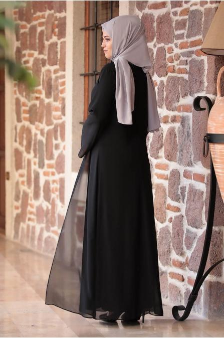 Mihribah Elbise - Siyah - Amine Hüma
