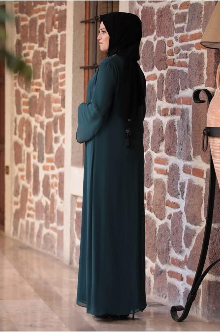 Mihribah Elbise - Yeşil - Amine Hüma