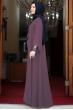 Önü Pul Payet Büyük Beden Tesettür Elbise - Gül Kurusu