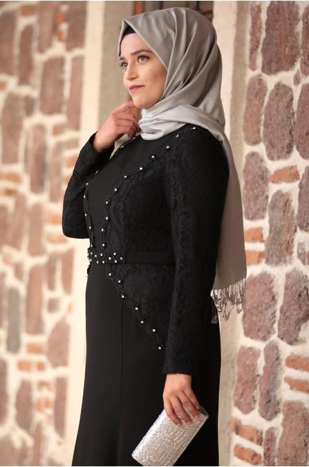 Amine Hüma - Şehrazat Abiye - Siyah
