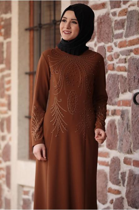 Açelya Elbise Hardal - Amine Hüma