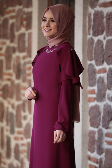Ahenk Elbise Mercan - Amine Hüma