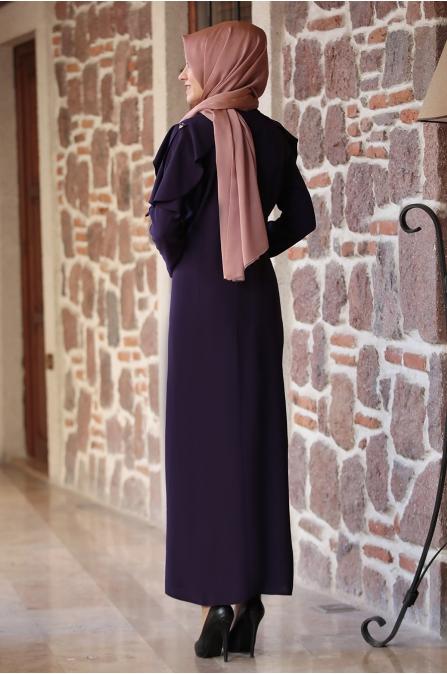 Ahenk Elbise Mor - Amine Hüma