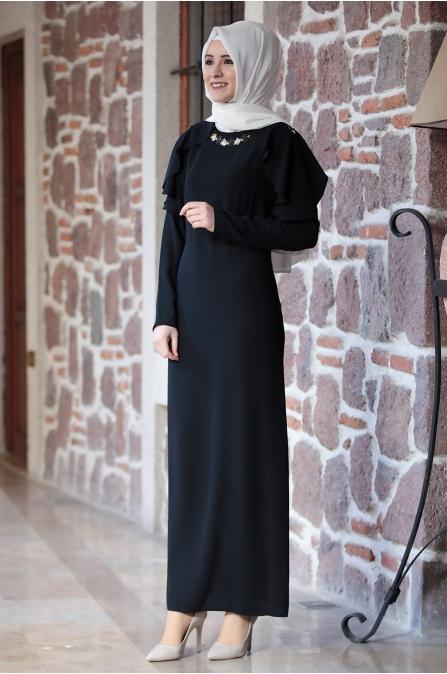 Ahenk Elbise Siyah - Amine Hüma
