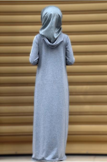 Berrak Elbise - Gri - Amine Hüma