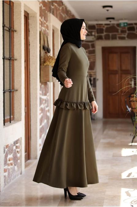 Ceren Elbise - Haki - Amine Hüma