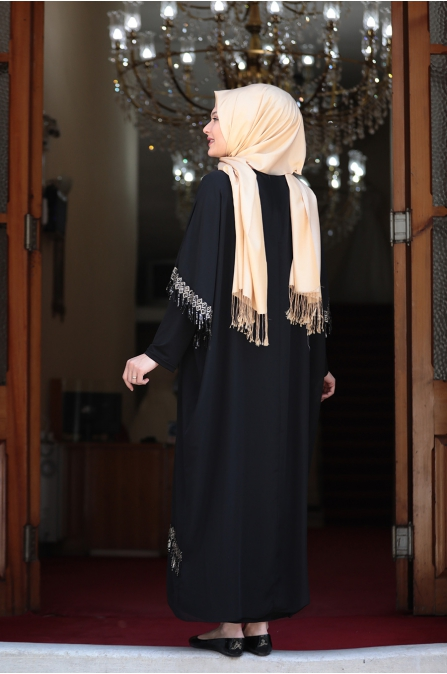 Ebru Elbise - Siyah - Amine Hüma