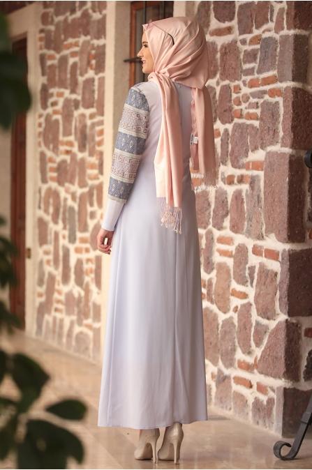 Amine Hüma - Gökkuşağı Elbise - Buz Mavisi