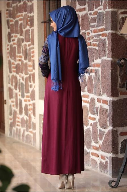 Amine Hüma - Gökkuşağı Elbise - Mürdüm