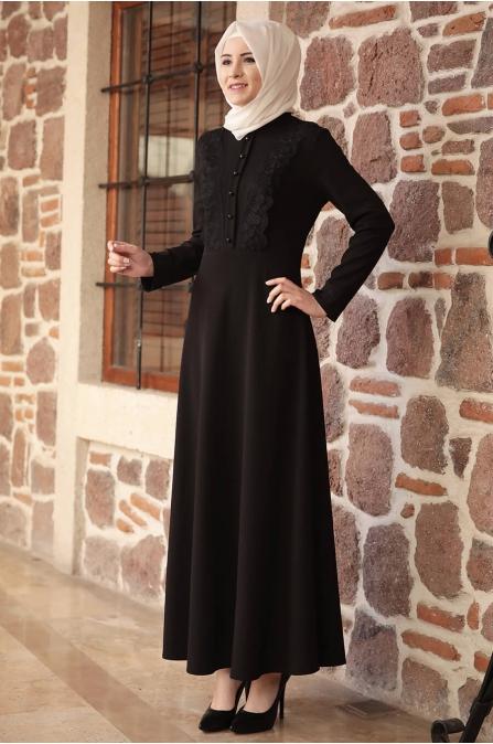 Amine Hüma - Gülzade Elbise - Siyah