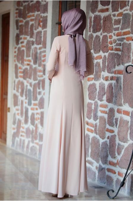 Kolyeli Elbise Pudra - Amine Hüma