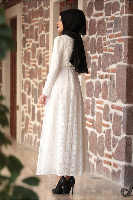 Amine Hüma - Melek Elbise - Ekru