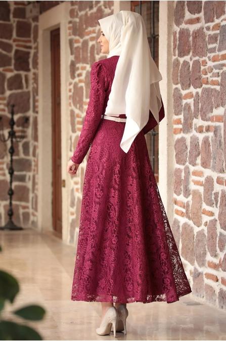 Amine Hüma - Melek Elbise - Fuşya