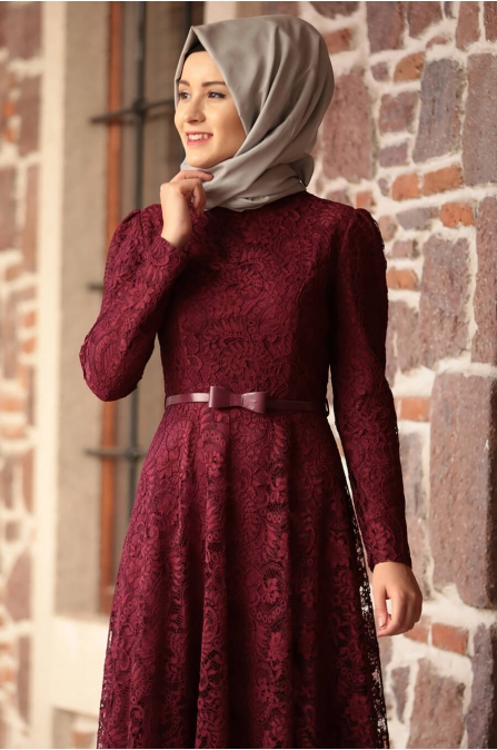 Amine Hüma - Melek Elbise - Mürdüm