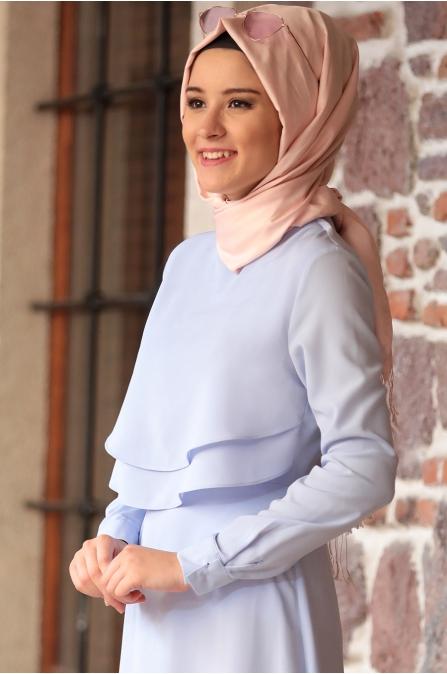 Amine Hüma - Nisa Elbise - Bebe Mavisi