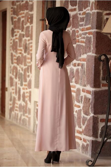 Amine Hüma - Nisa Elbise - Pudra