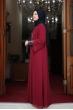 Önü Pul Payet Tesettür Elbise - Bordo